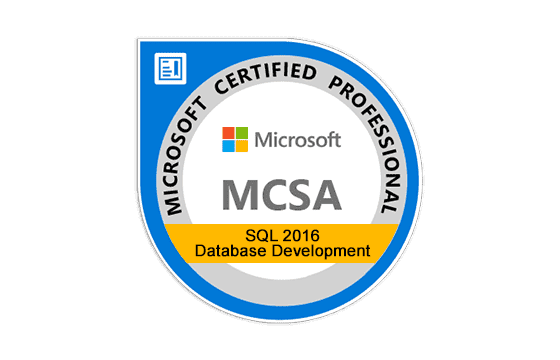 Microsoft Certified Solutions Accosiate SQL 2016 Database Development