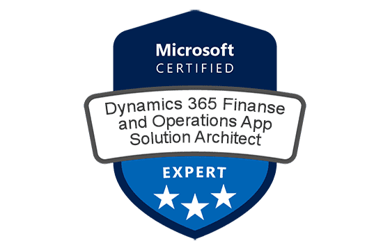 Microsoft Certified: Dynamics 365: Finance and Operations App Solution Architect Expert