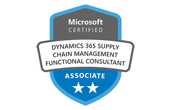 Microsoft Certified: Dynamics 365 Supply Chain Management Functional Consultant Associate