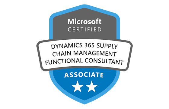 Microsoft Certified: Dynamics 365 Supply Chain Management, Manufacturing Functional Consultant Associate