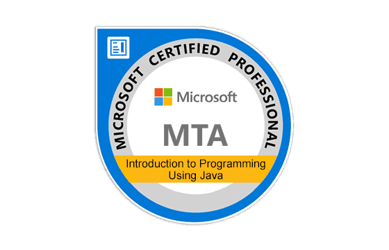 Microsoft Technology Associate Introduction to Programming Using Java